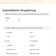 PTgroup – Gruppierungsfunktion