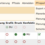 PTreport – Auswertungen/ Reporting