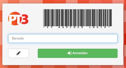 PTeasylogin – Barcode Anmeldeprozedur