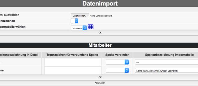 PTimport – externe Daten importieren